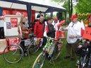 Preisverleihung für die drei am originellsten geschmückten Fahrräder